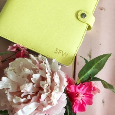 planner yellow close up